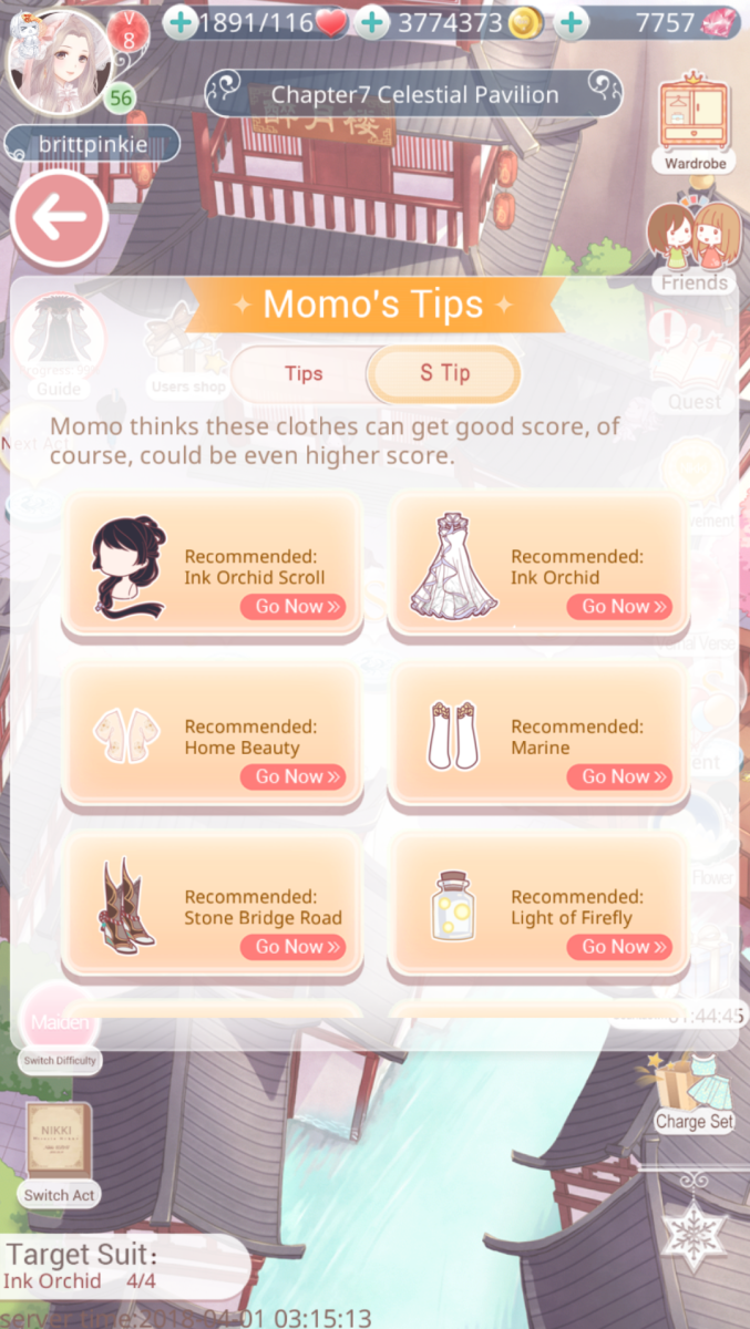 Yeah, you might look like a mess after wearing all that Momo suggests, but his tips will give you the highest score!