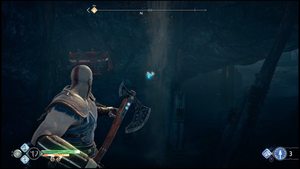 Don't forget to look for and throw your axe at targets throughout the game to unlock items and loot.