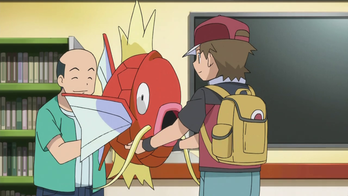 If only there was some strange man giving out Magikarps to me. These things are gigantic by the way.