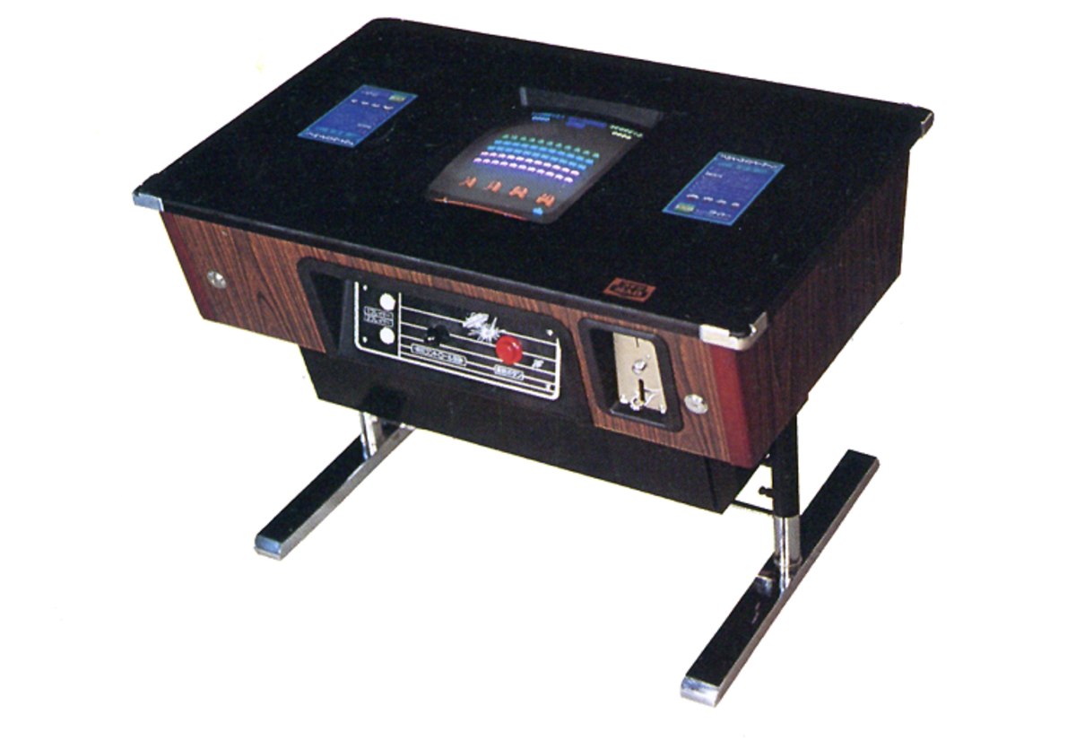 Cocktail cabinet model for Space Invaders (1978).