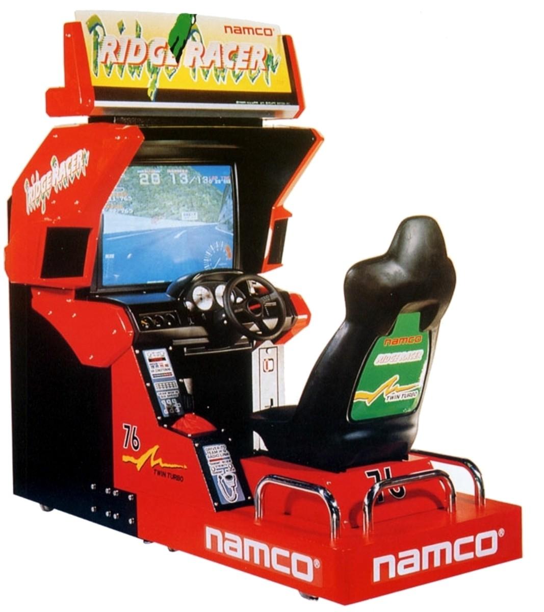 Ridge Racer (1993) deluxe cabinet.