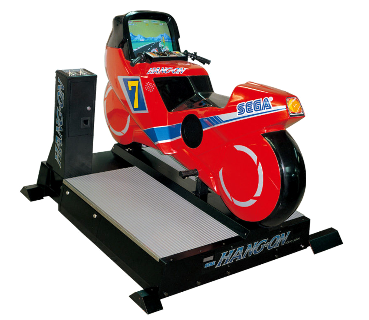 Deluxe cabinet for Hang-On (1985).