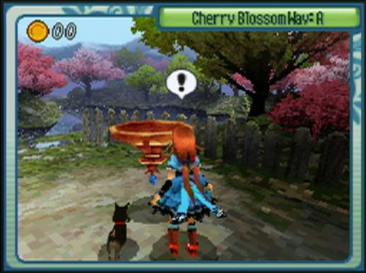 A screenshot of the game, featuring Dorothy and Toto.