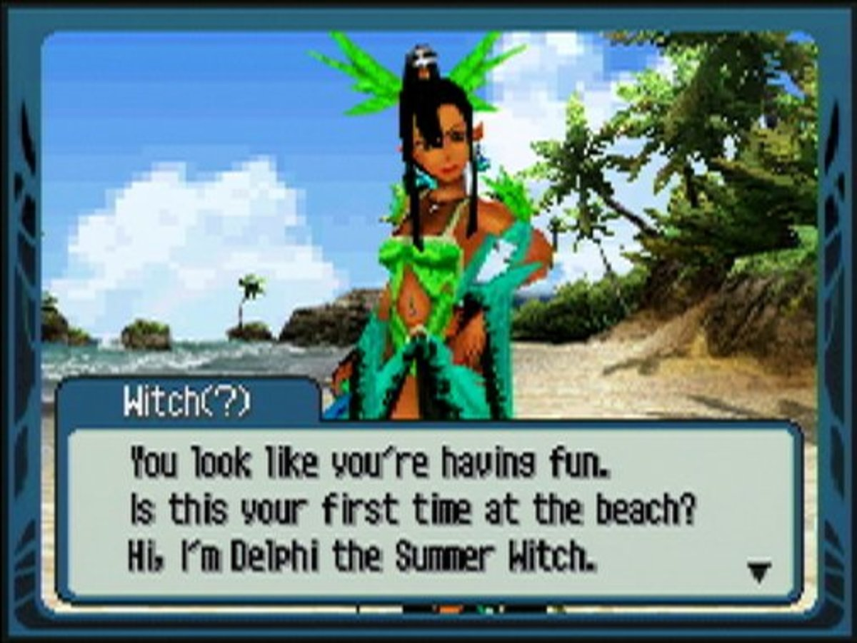 A screenshot showing one of the witches who appear in this game.