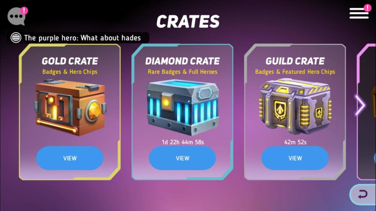 Opening Crates