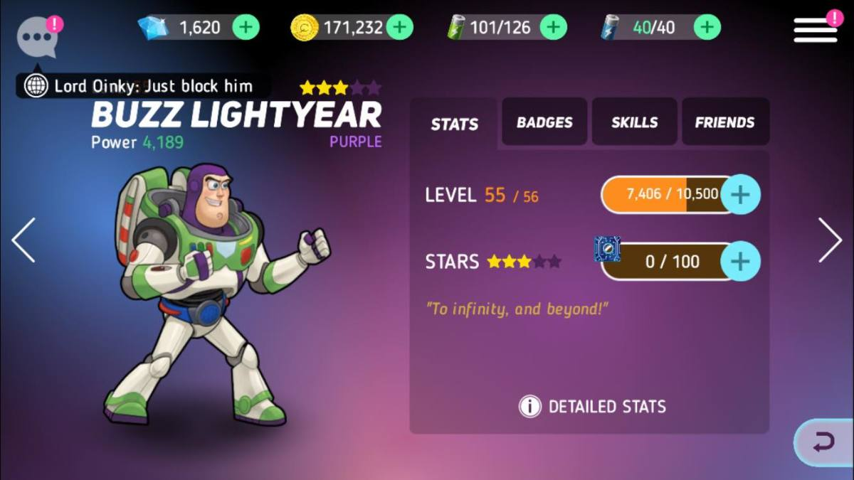 Featuring Buzz Lightyear in this Disney Heroes Battle Mode Guide