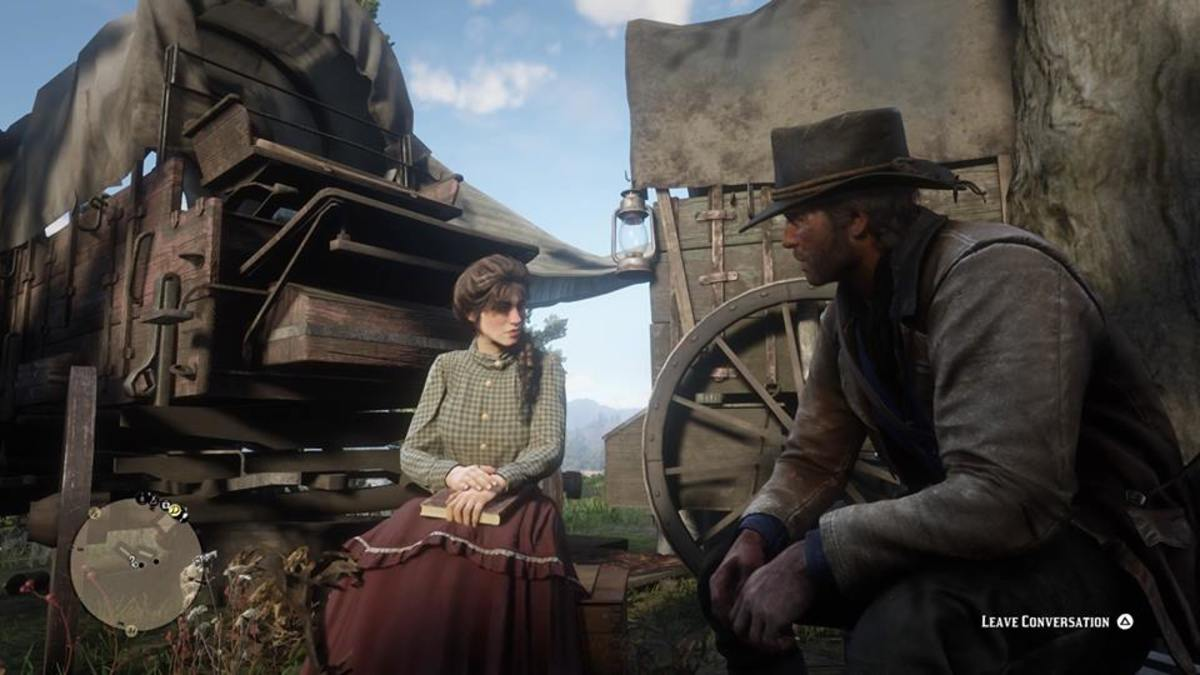 Arthur Morgan Speaking to Woman