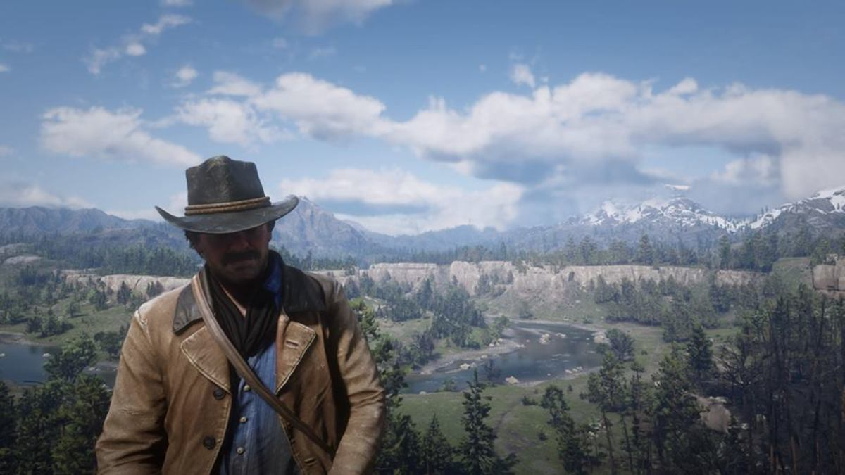 Arthur Morgan in Horseshoe Overlook