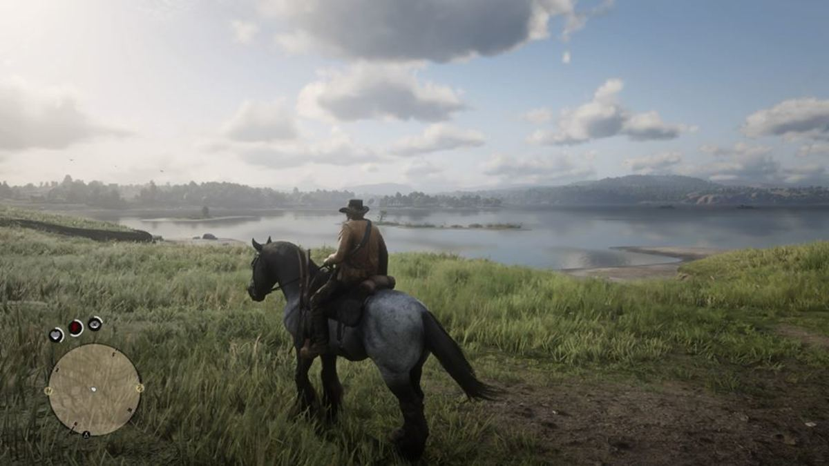 Screenshot of Arthur on a Horse