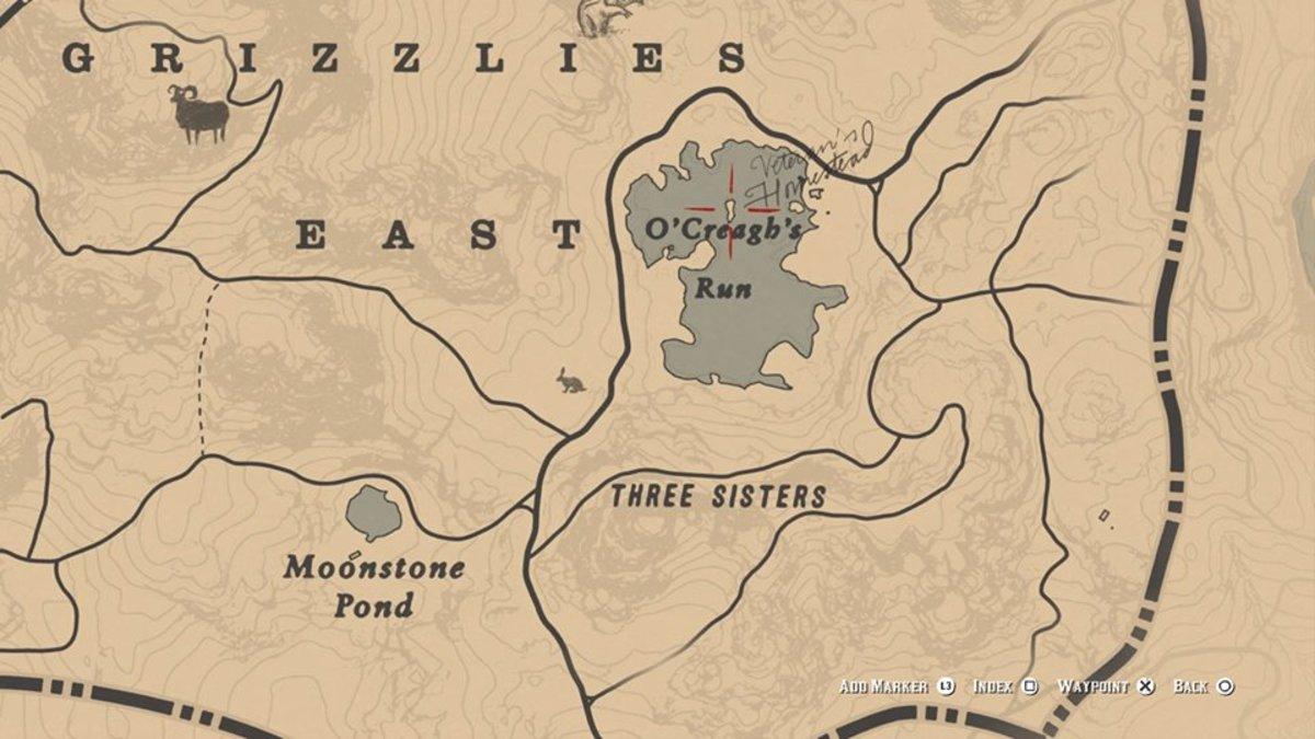 Location of two gold bars
