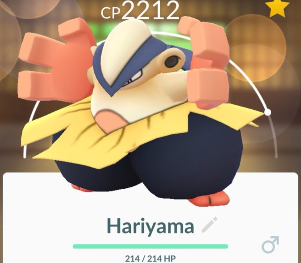 Hariyama in Pokemon Go