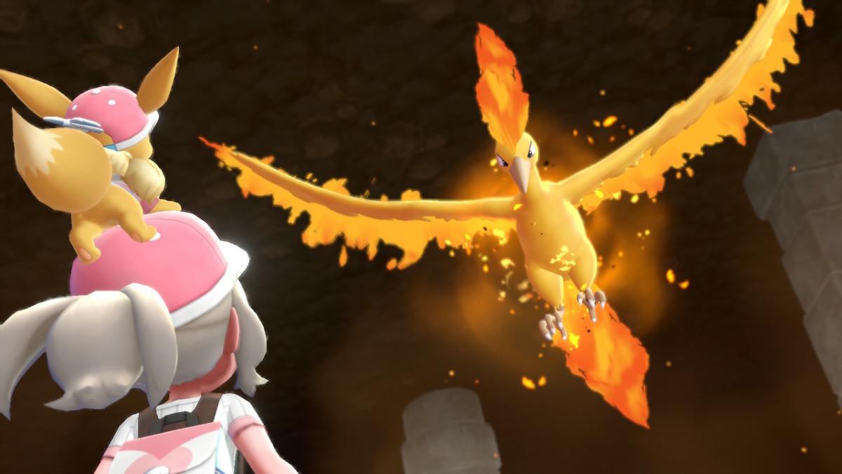 Moltres in Pokemon Let's Go