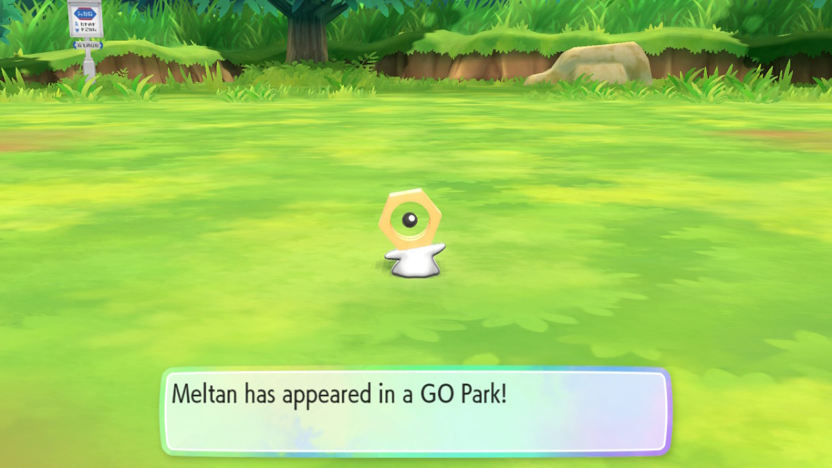 Meltan in the Go Park