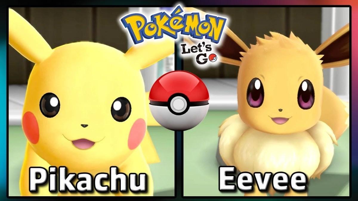 Partner Pikachu and Eevee in Pokemon: Let's Go!