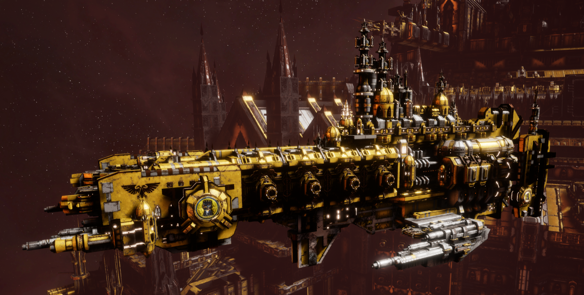 Adeptus Astartes Cruiser - Strike Cruiser MK.I (Imperial Fists Sub-Faction)