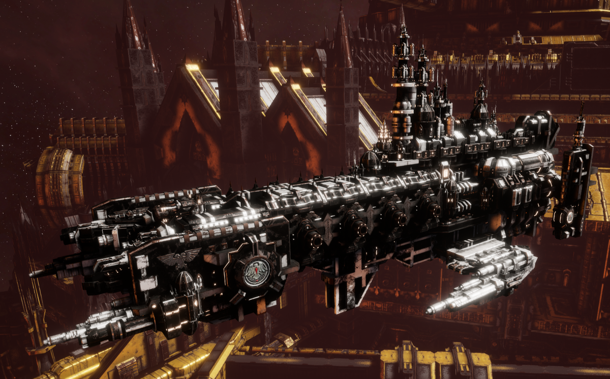 Adeptus Astartes Cruiser - Strike Cruiser MK.II (Raven Guards Sub-Faction)