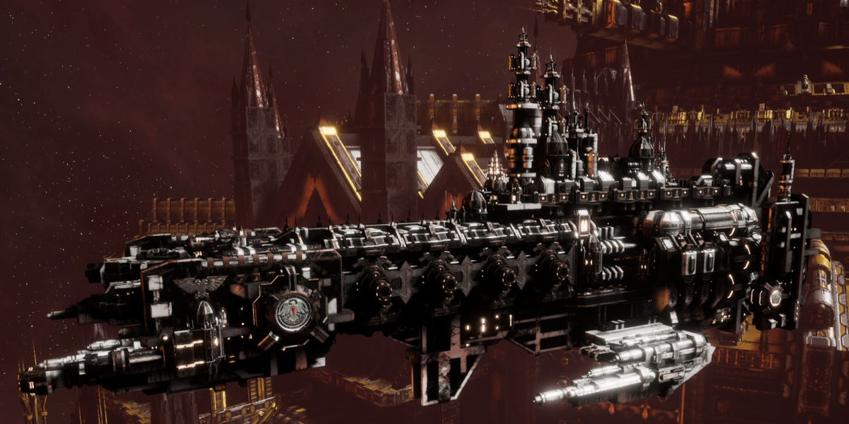 Adeptus Astartes Cruiser - Strike Cruiser MK.III (Raven Guards Sub-Faction)