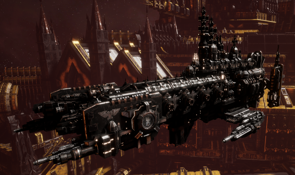 Adeptus Astartes Cruiser - Strike Cruiser MK.II (Iron Hands Sub-Faction)