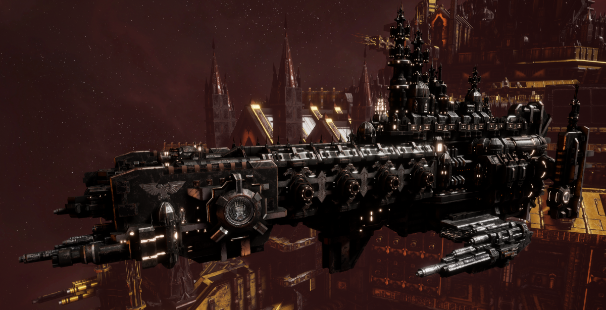 Adeptus Astartes Cruiser - Strike Cruiser MK.I (Iron Hands Sub-Faction)