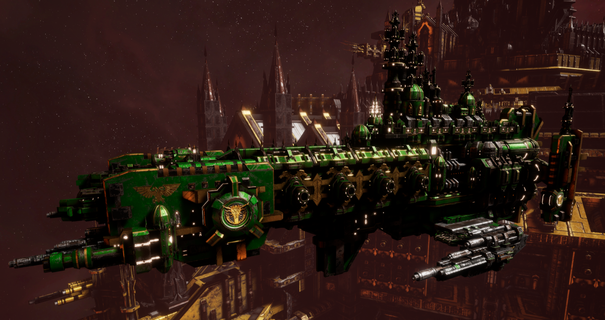 Adeptus Astartes Cruiser - Strike Cruiser MK.I (Salamanders Sub-Faction)