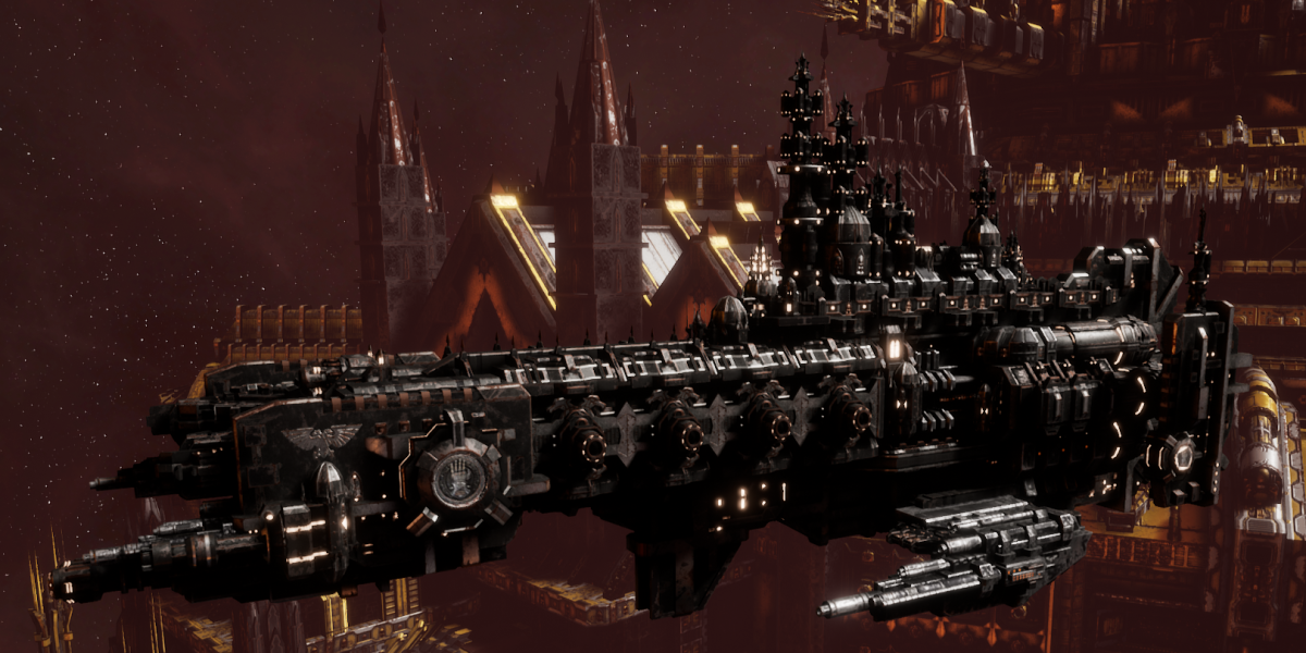 Adeptus Astartes Cruiser - Strike Cruiser MK.III (Iron Hands Sub-Faction)