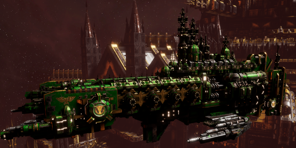 Adeptus Astartes Cruiser - Strike Cruiser MK.III (Salamanders Sub-Faction)