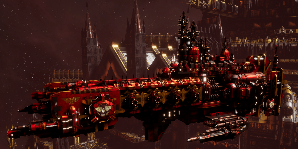 Adeptus Astartes Cruiser - Strike Cruiser MK.III (Blood Angels Sub-Faction)