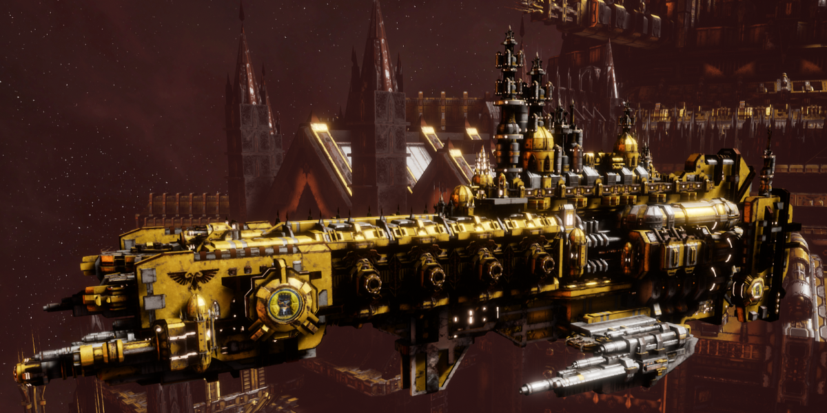 Adeptus Astartes Cruiser - Strike Cruiser MK.III (Imperial Fists Sub-Faction)