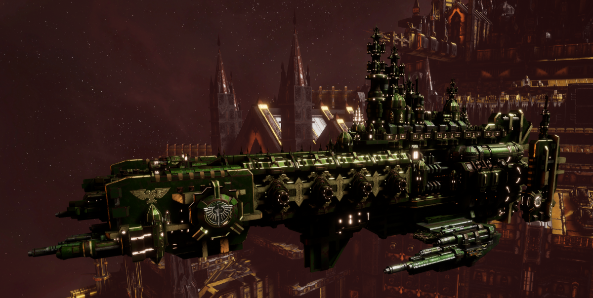 Adeptus Astartes Cruiser - Strike Cruiser MK.I (Dark Angels Sub-Faction)