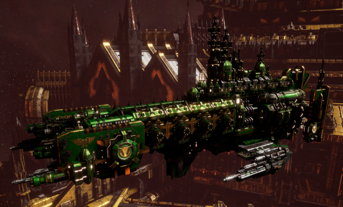 Adeptus Astartes Cruiser - Strike Cruiser MK.II (Salamanders Sub-Faction)