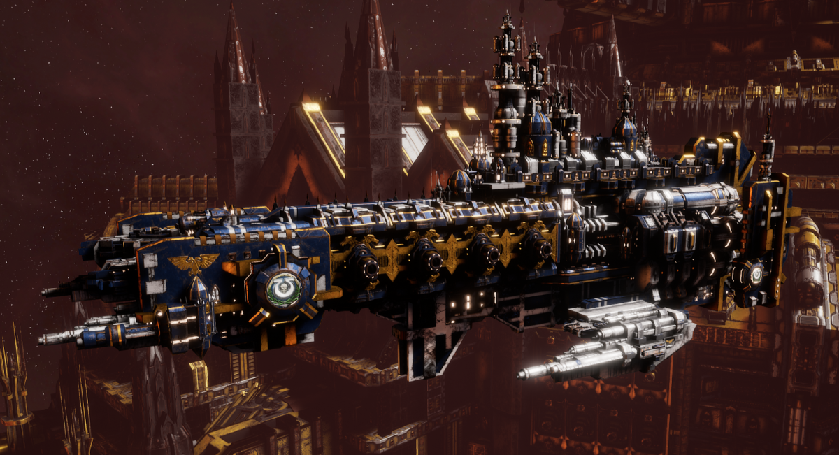 Adeptus Astartes Cruiser - Strike Cruiser MK.I (Ultramarines Sub-Faction)