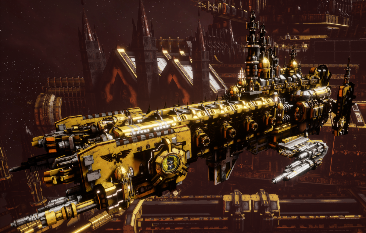 Adeptus Astartes Cruiser - Strike Cruiser MK.II (Imperial Fists Sub-Faction)