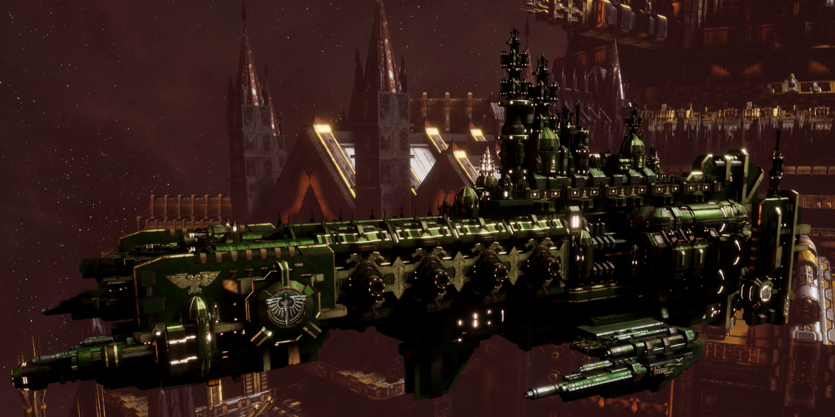 Adeptus Astartes Cruiser - Strike Cruiser MK.III (Dark Angels Sub-Faction)