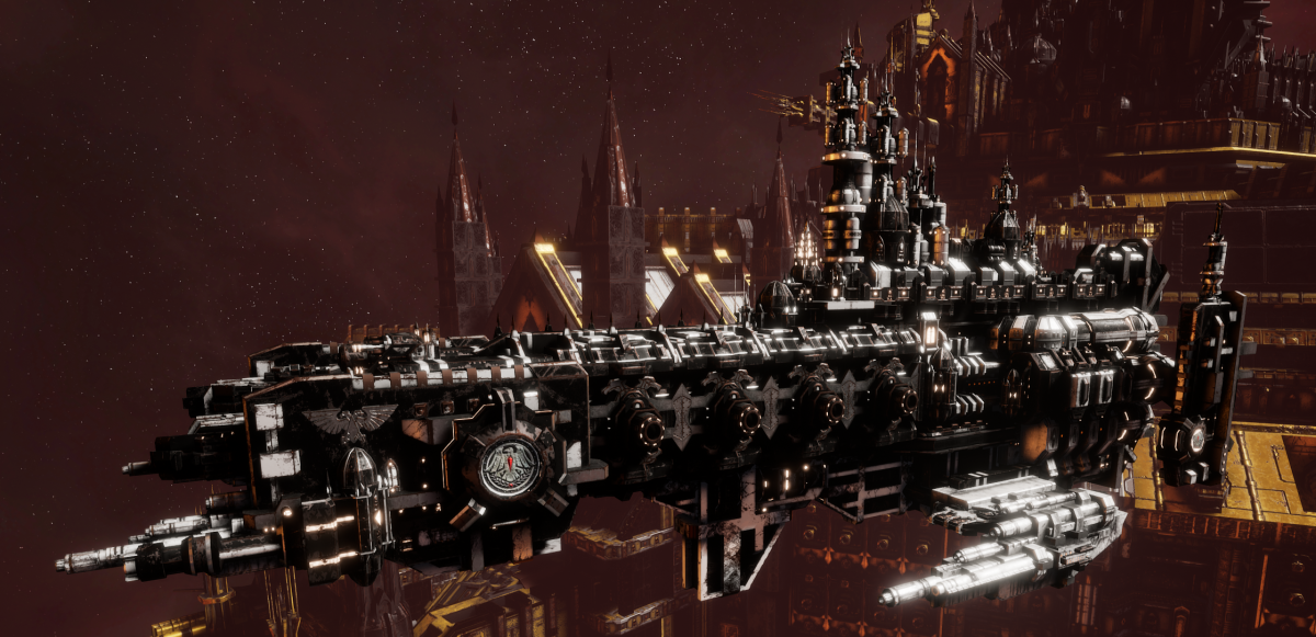 Adeptus Astartes Cruiser - Strike Cruiser MK.I (Raven Guards Sub-Faction)