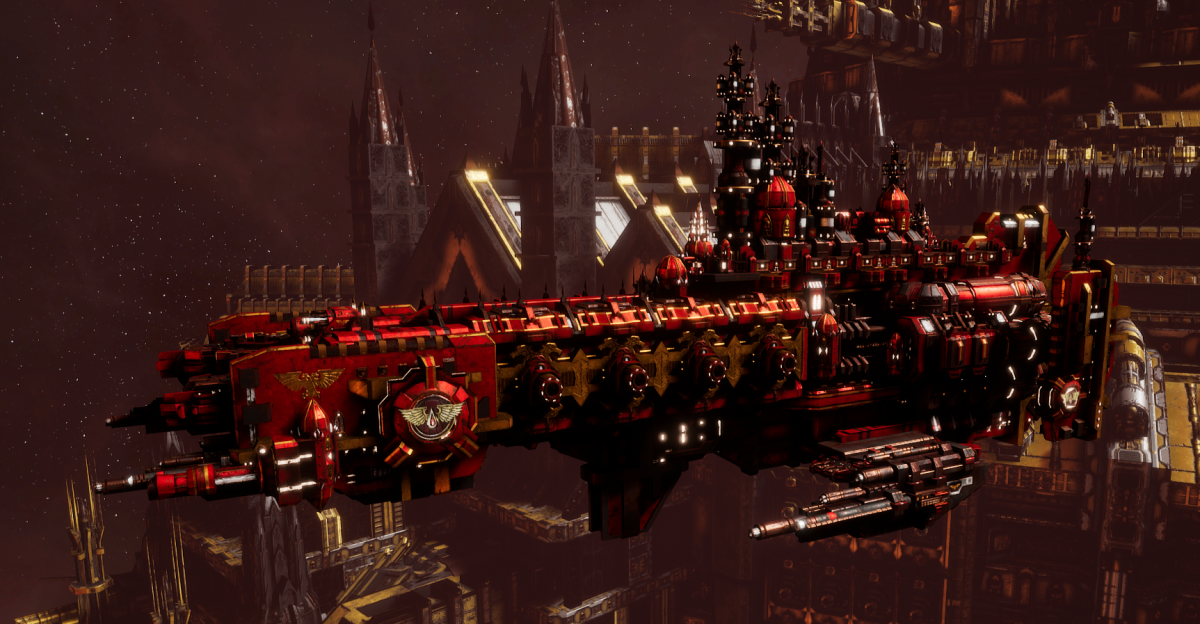Adeptus Astartes Cruiser - Strike Cruiser MK.I (Blood Angels Sub-Faction)