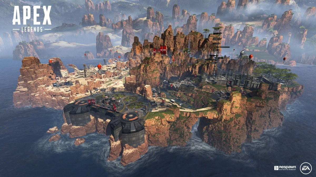 Apex Legends Battle Royale Map.