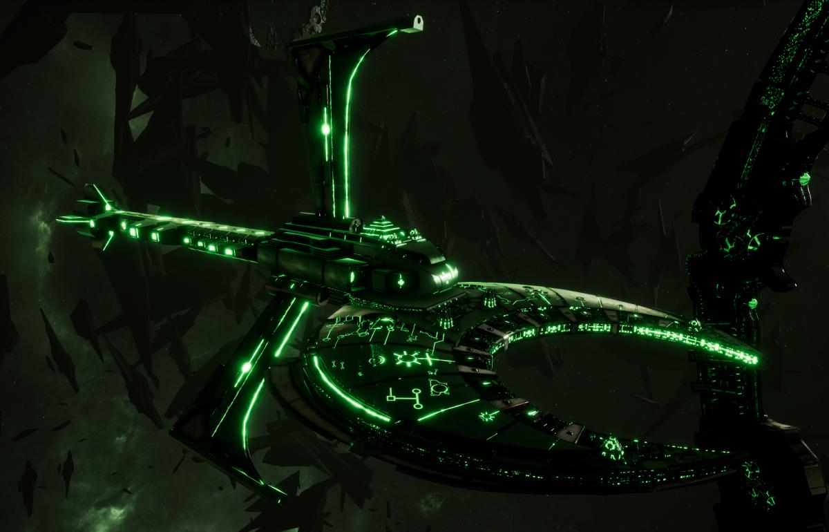 Necron Cruiser - Scythe Harvester (Temeryn Sub-Faction)