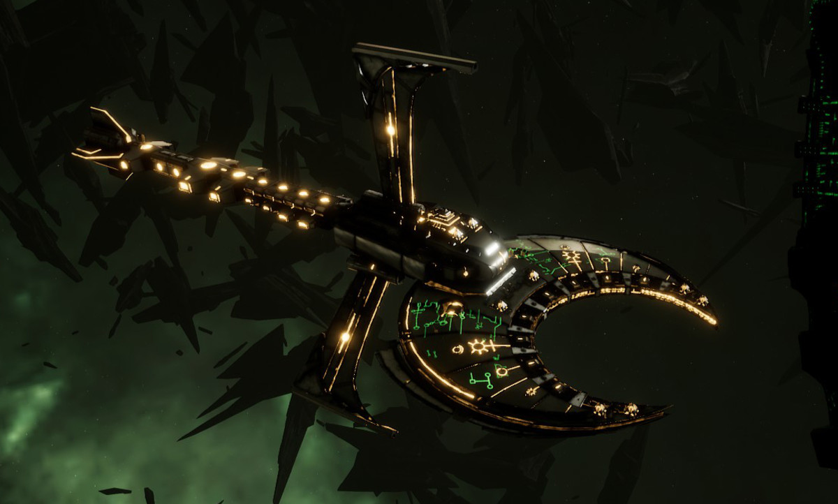 Necron Cruiser - Scythe Harrower (Mephrit Sub-Faction)