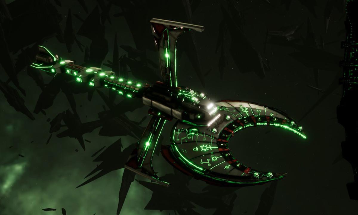 Necron Cruiser - Scythe Harrower (Sautekh Sub-Faction)