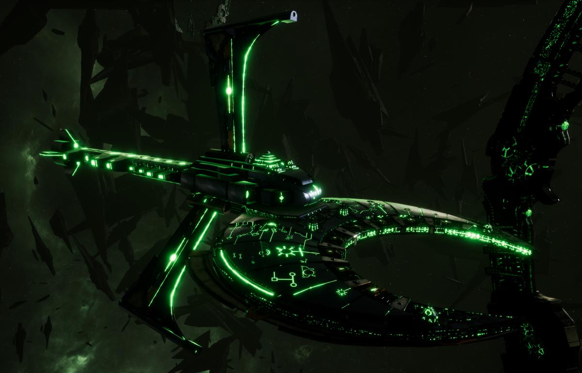 Necron Cruiser - Scythe Harvester (Charnovokh Sub-Faction)