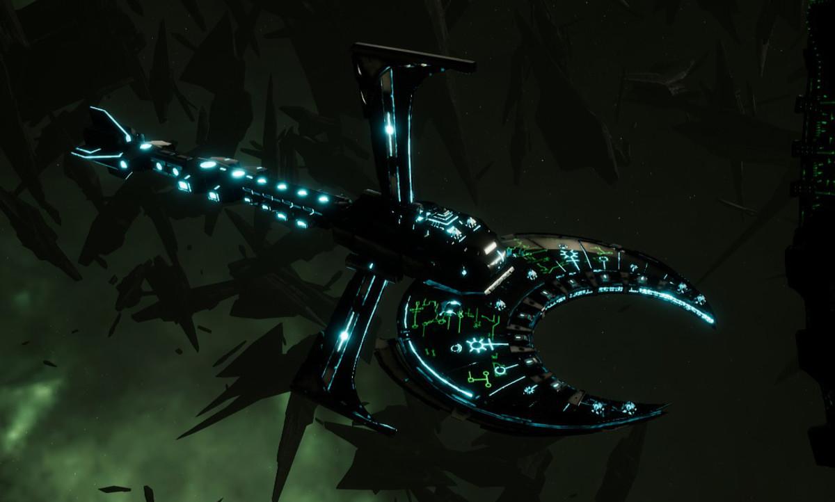 Necron Cruiser - Scythe Harrower (Thokt Sub-Faction)