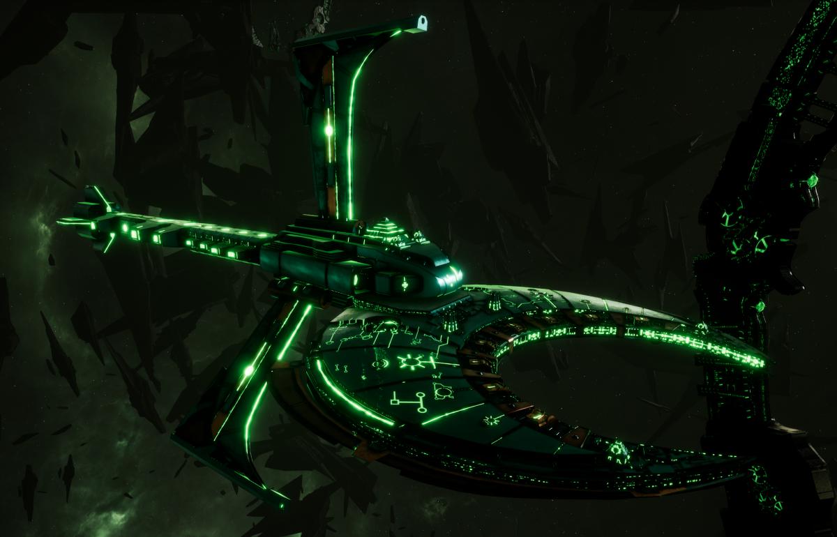 Necron Cruiser - Scythe Harvester (Nihilakh Sub-Faction)