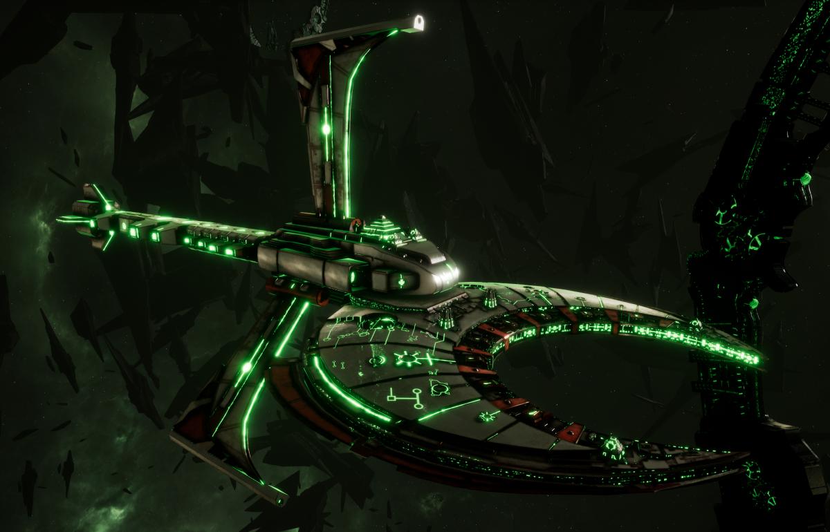 Necron Cruiser - Scythe Harvester (Sautekh Sub-Faction)