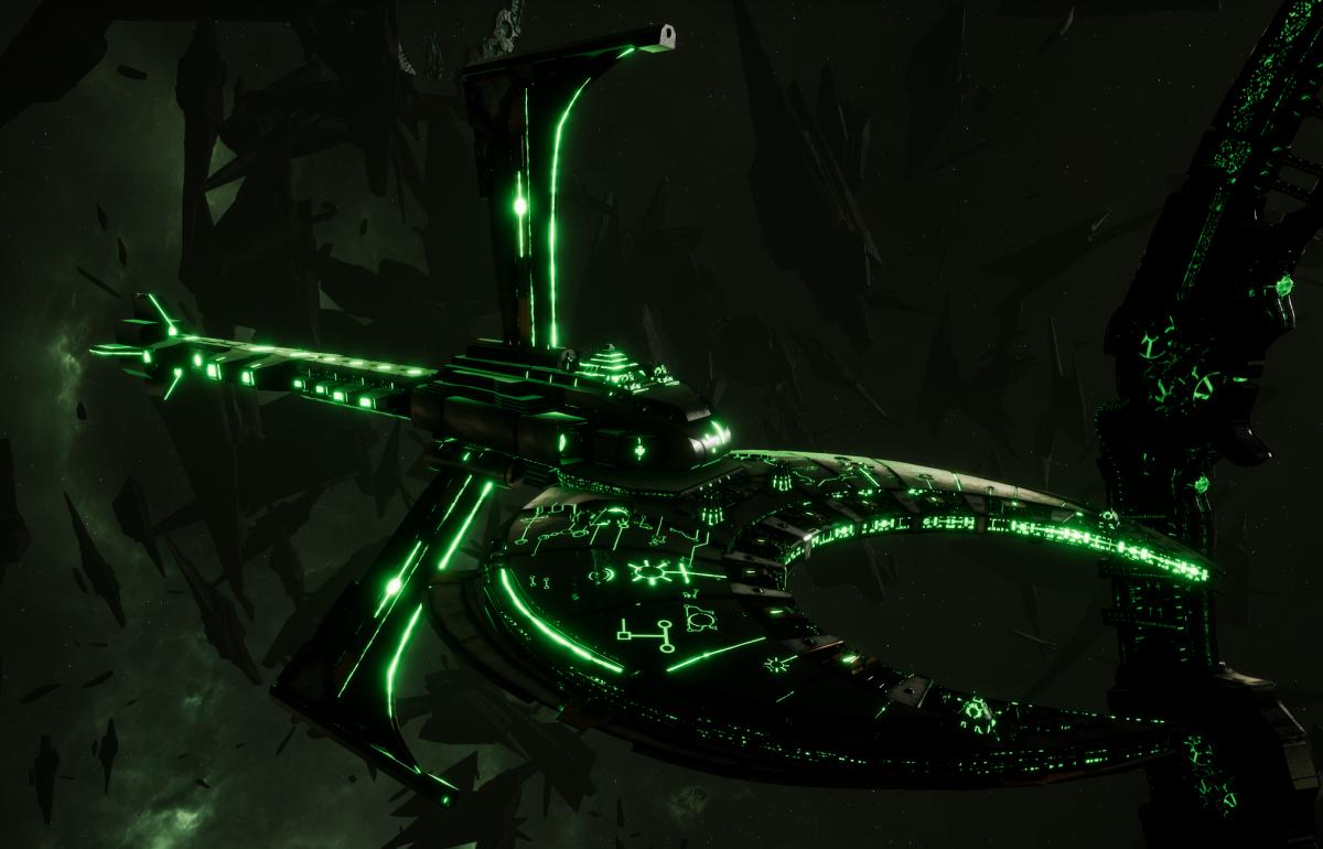 Necron Cruiser - Scythe Harvester (Nepheru Sub-Faction)