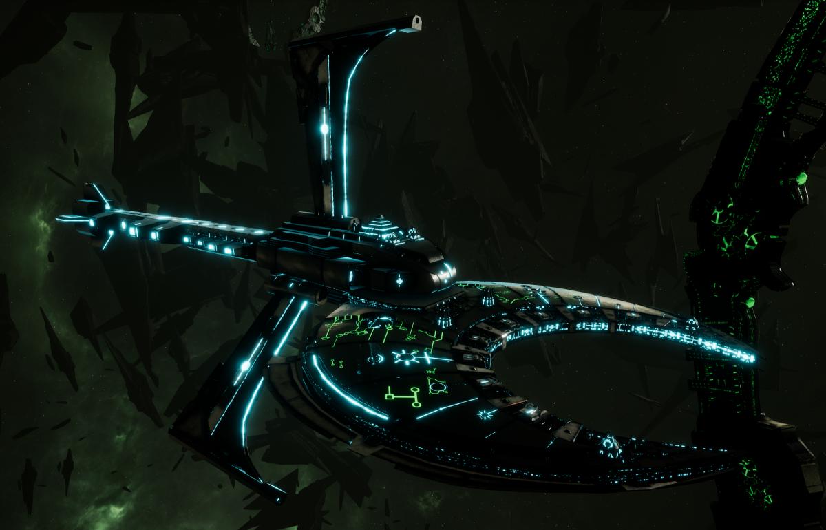 Necron Cruiser - Scythe Harvester (Thokt Sub-Faction)