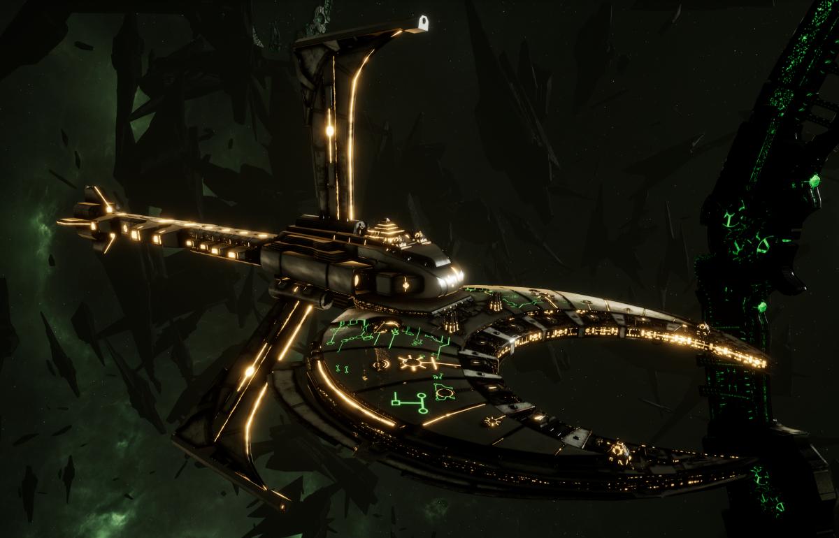 Necron Cruiser - Scythe Harvester (Mephrit Sub-Faction)
