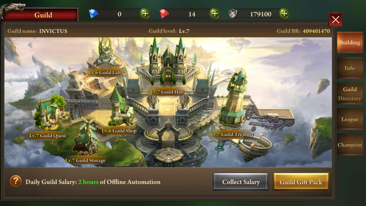 Era of celestials warrior guide list