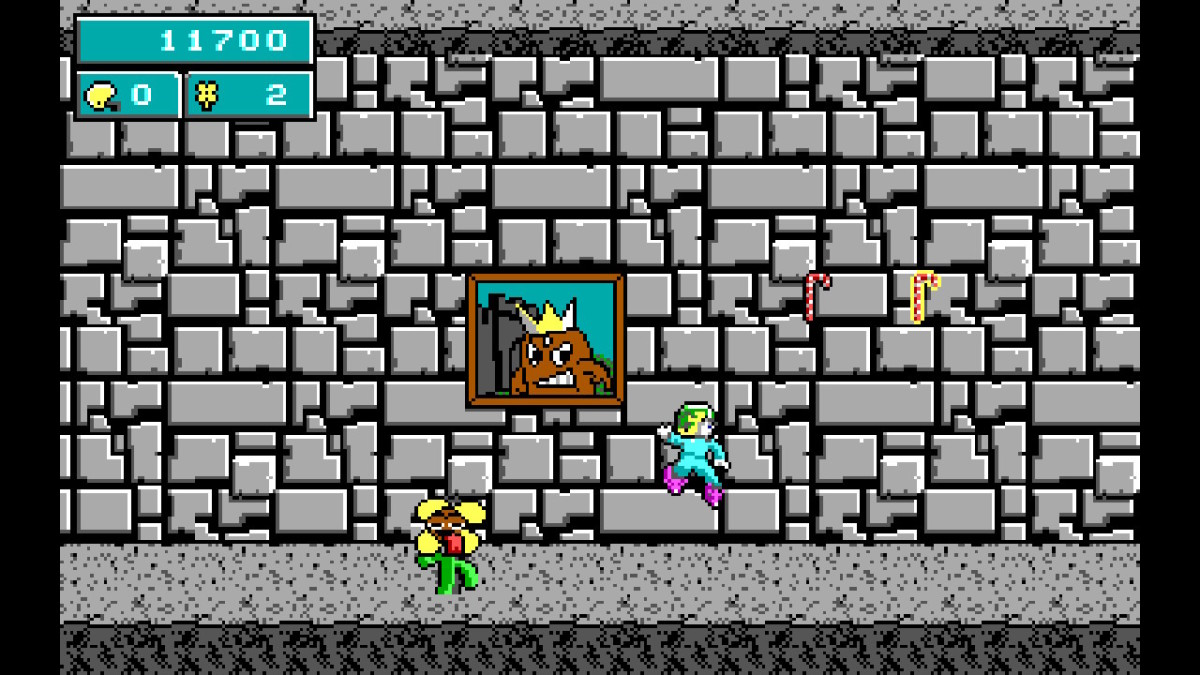A screenshot from the Nintendo Switch port of Commander Keen in Keen Dreams.
