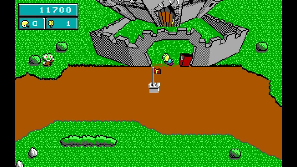 The overworld map in Commander Keen in Keen Dreams (Nintendo Switch version).
