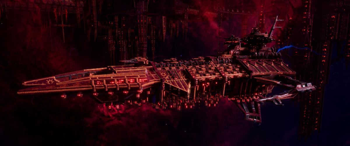 Chaos Battleship - Despoiler (Red Corsairs  Sub-Faction)